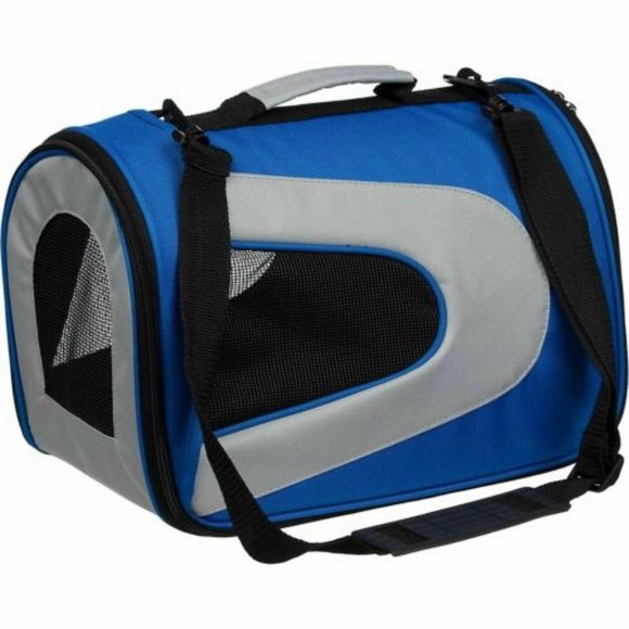 Airline Approved Pet Dog Cat Carrier Blue NEW